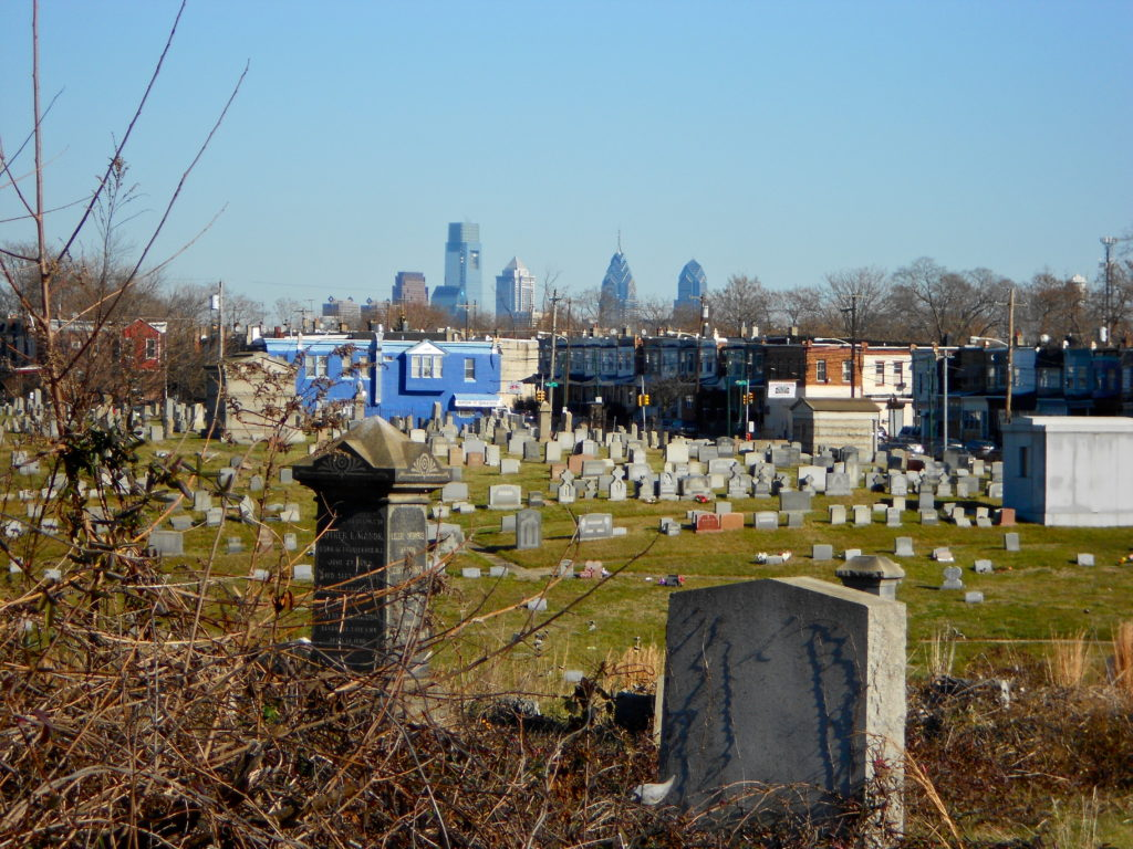 Mt. Moriah Cemetery in Philadelphia. Photograph by Smallbones. Creative Commons license