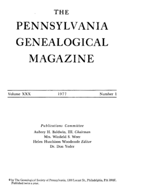 PGM Volume 30 Number 1