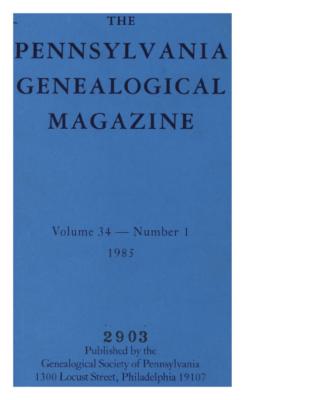 PGM Volume 34 Number 1